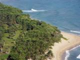 Blick auf den Strand Entwicklung Land