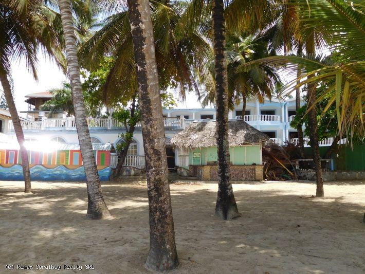 Frente al mar del hotel en la playa de Cabarete